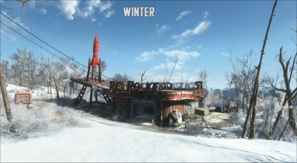 Fallout 4 Seasons Mod for Grass - Trees - Plants